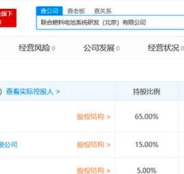 丰田、一汽、东风等合资成立联合燃料电池系统研发(北京)有限公司